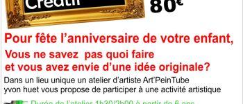 Anniversaire créatif dans un vrai atelier d\artiste Laval