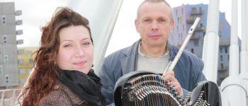 Duo Lazuli, flûte et harpe celtique en concert avec Yves Brisson et Emilie Chevillard Le Pouliguen