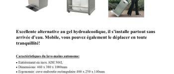 Vente de station de distribution automatique de gel hydroalcoolique. Challans