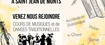 Inscriptions au conservatoire de musique et danses traditionnelles 2020-2021 Saint-Jean-de-Monts